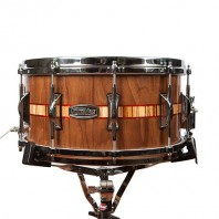 Walnut/Padauk/Zebrawood Inlay Snare – $950
