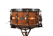 Walnut/Padauk/Zebrawood Inlay Snare